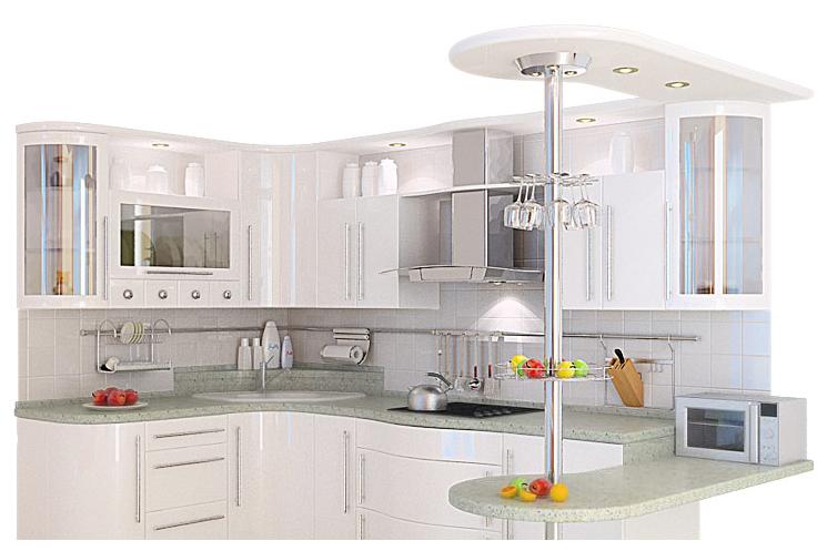 фото кухни цвет металлик: