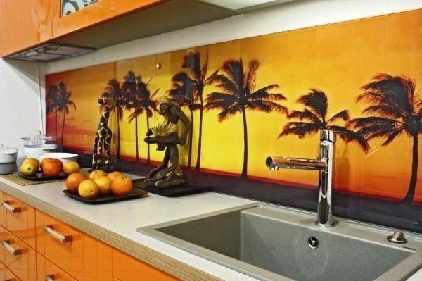 Фотопечать на элементах кухонной мебели