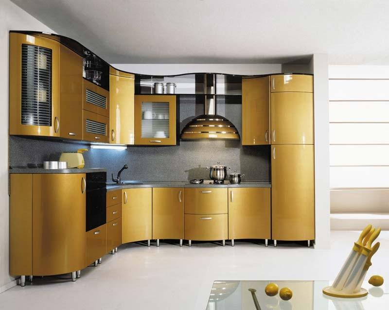 Дуба кухни в алюминиевой рамке кухни с
