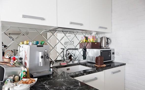 Укладка кухонного фартука из плитки