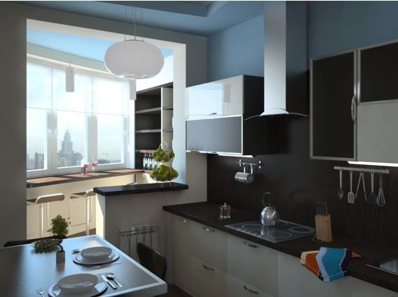 Кухня с балконом 7 кв м дизайн